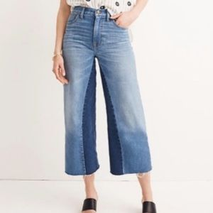 Madewell Wide Leg Crop High Rise Denim Jeans